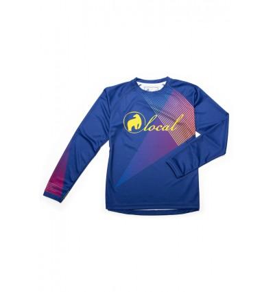 Jersey DH damski Local Outerwear Sparkle 2017 Blue Print
